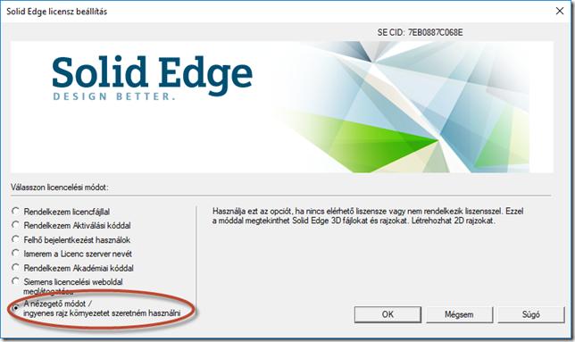 Solid Edge licenszkezelő