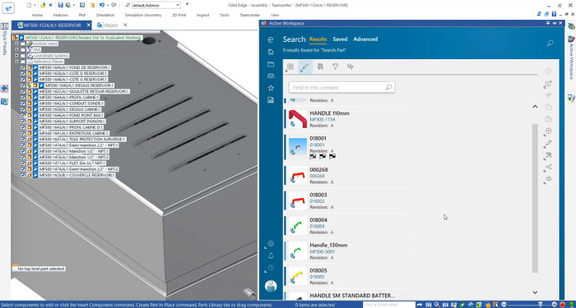 Solid Edge 2020 – Teamcenter Active Workspace